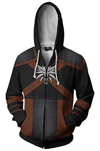 The Witcher 3 Wild Hunt Geralt of Rivia Kapuzenjacke Hooded Schwarz L