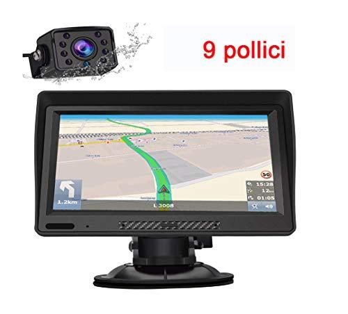 Navigatore GPS per Auto,Regemoudal Europa Auto Navigatore 7 pollici 8 GB di ROM 256 M di RAM, Aggiornamento a Vita
