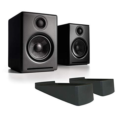 Audioengine A2+ Wireless Speakers w/DS1 Desktop Stands (Black)