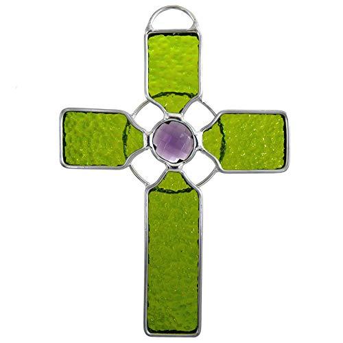 American Made Celtic Cross Art Glass Sun-Catcher
