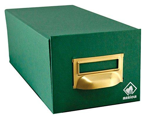 Mariola 3-500 - Fichero cartón forrado 180 x 125 x 250 mm, color verde
