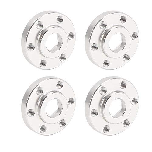 Buje Hexagonal de Rueda de Coche RC de aleación de Aluminio de fácil instalación 4 Piezas Eje Hexagonal de Rueda 1/10 Duradero con diseño Especial(8mm)