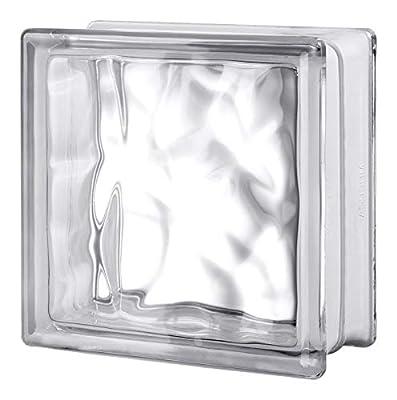 Seves 5002880 8 x 8 x 4 in. Nubio Glass Block - Pack of 8