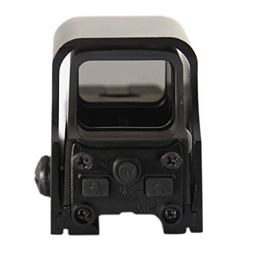 Minidiva® 551 Holographic Sight Red Green Point Visier / Dot Sight Scope, 10 Levels Brightness, Fits Any 20mm Rail