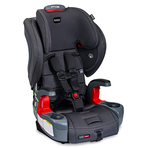 Britax Grow with You ClickTight Harness-2-Booster Car Seat, Cool N Dry - Cool Flow Moisture Wicking Fabric - 2 Layer Impact Protection - 5 Point Harness New Version of Frontier