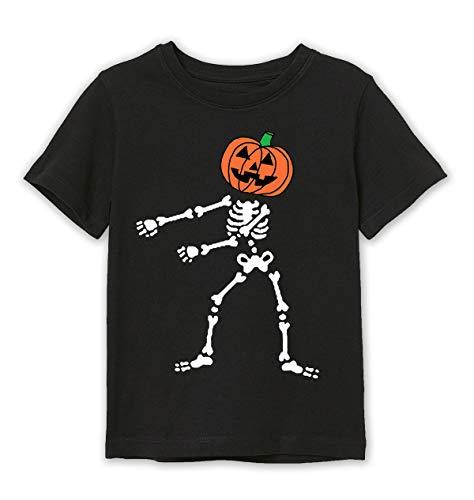 Besserbay Toddler Boys/Girls Jack O' Lantern Pumpkin Skeleton Floss Dance Black Tee shirt 3-4 Years