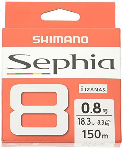 シマノ(SHIMANO) ライン PEライン エギング セフィア8 150m 0.8号 LD-E51S 釣り糸