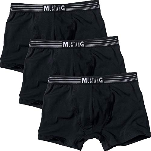 MUSTANG Herren-Pants 3er-Pack Single-Jersey schwarz Größe L