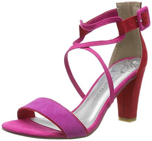 Marco Tozzi Damen 2-2-28317-22 Riemchensandalen, Pink (Pink Comb 514), 38 EU
