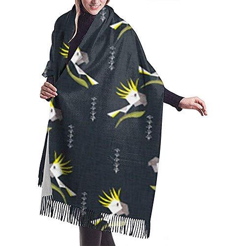 Elaine-Shop Sciarpa da donna Ghirlande natalizie Comfort e gioia Ghirlande Sciarpa classica a quadri nappa Sciarpa calda autunno e inverno