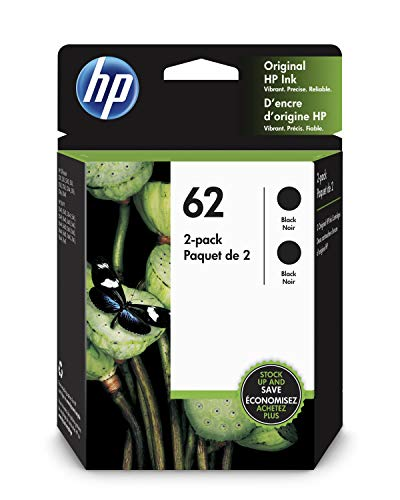 HP 62 | 2 Ink Cartridges | Black | C2P04AN