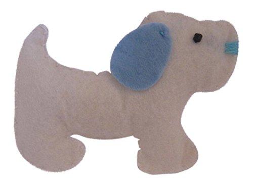 Brooch Boutique Broche de fieltro blanco hecho a mano con diseño de perro Westie Cairn Terrier