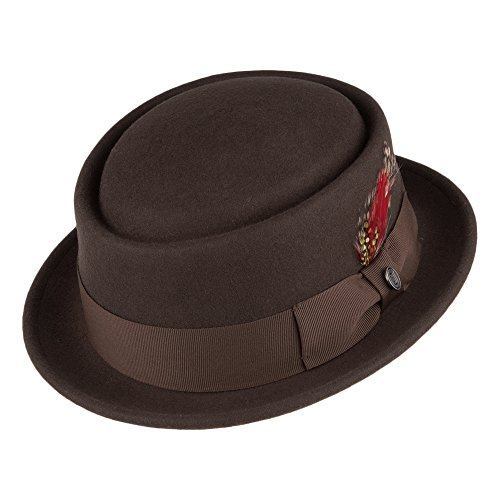 Jaxon & James Chapeau Pork Pie déformable Marron Medium