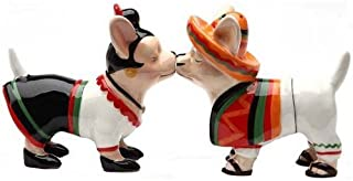 Chihuahua Chi Chi Chi 3 1/2'' tall Magnetic Salt and Pepper Shakers