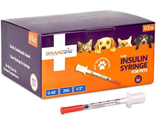buy  Brandzig U-40 Pet Insulin Syringes 29G 1/2cc, ... Diabetes Care