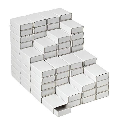 VBS Großhandelspackung 100er-Pack Streichholzschachteln blanko weiß 5x3,5x1,5cm DIY