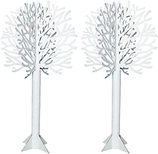 Die-Cut White Tree, 7 Feet 4 Inches High x 46 Inches Diameter