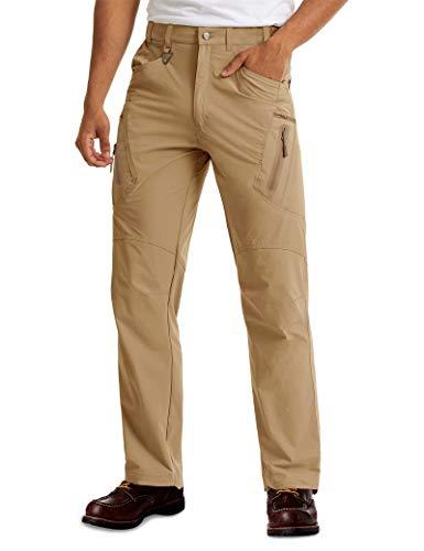 MAGCOMSEN Hiking Pants Mens Elastic Waist Mens Work Pants Cargo Pants Men Tactical Pants Men Golf Pants Men Khaki Pants Quick Dry Pants Fall Fishing Pants