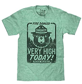 Smokey Fire Danger  Big and Tall Soft Touch Tee-2XLT Kelly Snow Heather