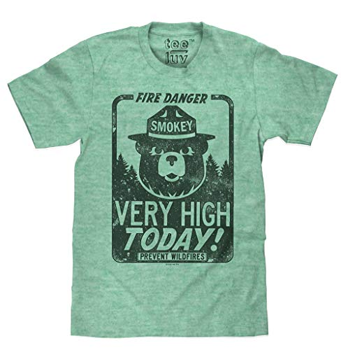 Smokey Fire Danger  Big and Tall Soft Touch Tee-3XLB Kelly Snow Heather