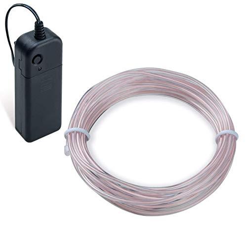 COVVY Cable LED Tira de Luces de Neon Flexible de Alimentado 3 Modos de Funcionamiento, Decoracin de Coche, Fiestas, Disfraz de Carnaval (Azul helado, 5M)