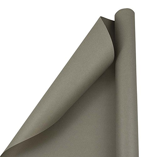 JAM PAPER Gift Wrap - Matte Wrapping Paper - 25 Sq Ft - Matte Slate Grey - Roll Sold Individually