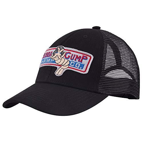 qingning Gump Kappe Baseballcap Rot Drucken Hut Snapback Trucker Cap Cosplay Kostüme Zubehör (One Size(58-60cm), Gump Cap schwarze Kappe für Baseball)