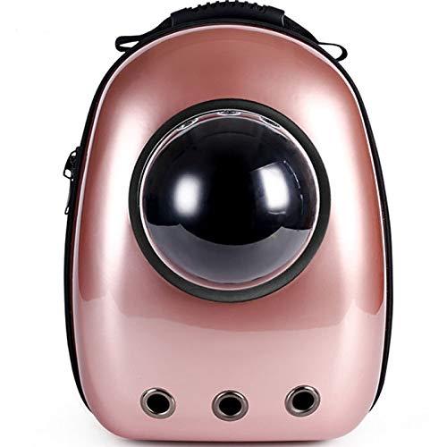 Hoge kwaliteit venster vervoermiddel waarop ademend reistas bubble astronaut hond ruimtecapsule kat carrier rugzak (Color : Rose Gold, Size : M)