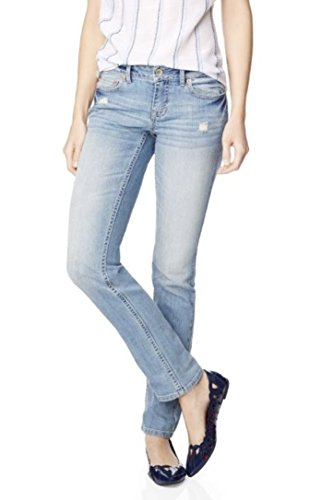 Aeropostale Womens Destructed Skinny Medium Wash Jeans 2 Regular Blue
