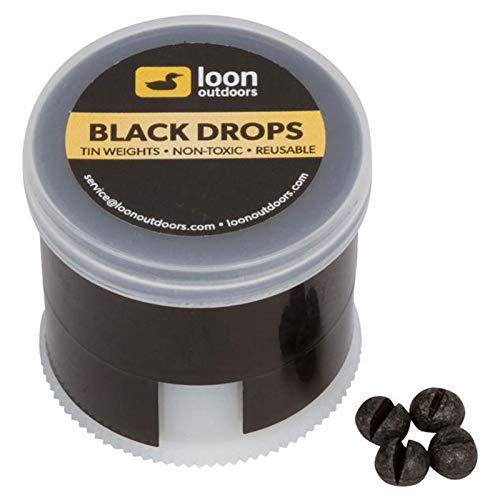Loon Outdoors Black Drops Split Shot | Twist Pot - No.BB