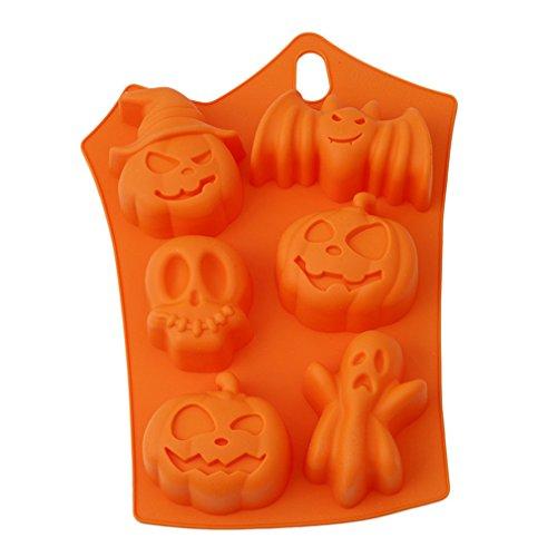 VWH Halloween Citrouille Gateaux Silicone Moule Chauve Souris Gateau Moule au Chocolat a Gelée Moisissure Decorations 23*17*3.5cm