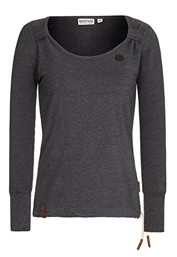 Naketano Female Sweatshirt Big Dudelsack Flavour Anthracite Melange, S