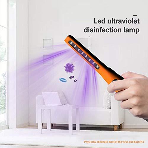 Uv-steriliserende lamp, met de hand kiemend, ozon-sterilisatie, oplaadbaar via USB voor huis, mobiele telefoon, speelgoed, kast, toilet, huisdieren, ziektekiemen