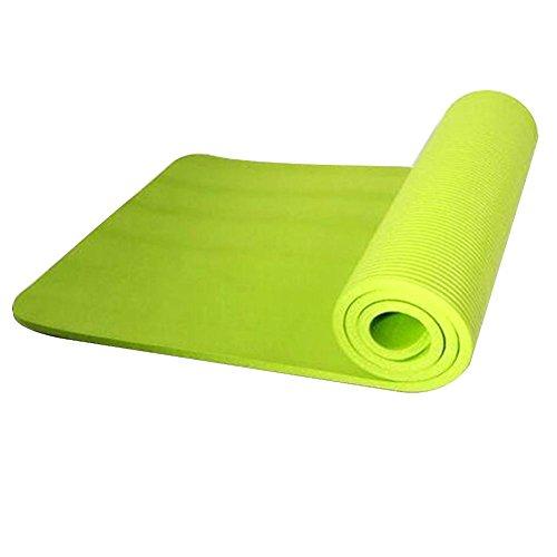 MezoJaoie Yogamat 72in 24in 10mm, Oefenmat Lichtgewicht Travel Yogamat voor Fitness Pilates (Zonder Bindriem)