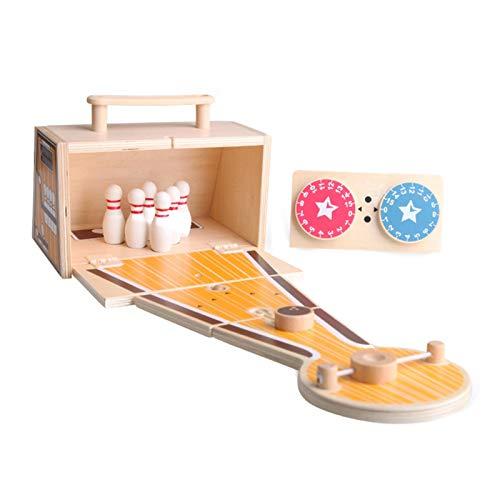 osmanthus Faltbar Tisch Bowling Set | Bowling-Spiel aus Holz | Geschicklichkeitsspiel für Kinder und Erwachsene | Hölzernen Desktop Dekoration für Kinder Spiel