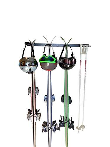 Insight Skiträger zur Wandmontage, für 4 Paar Ski oder Gartenwerkzeuge