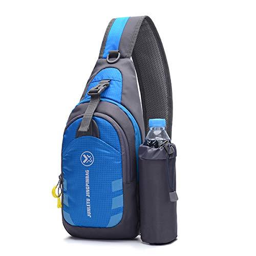 Vohoney Sling Backpack Unisex Crossbody Chest Pack Waterproof Lightweight Unbalance Backpack Sling Shoulder Bag for Outdoor Cycling Hiking Sports Travel (Men Sling Bags for Blue)
