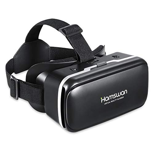 REDSTORM VR Headset,3D VR Panoramic with Adjustable Lens and Comfortable Strap, Virtual Reality Glasses for 4.7-6.0 inches Smartphones, the for your friends(Frosted Black)