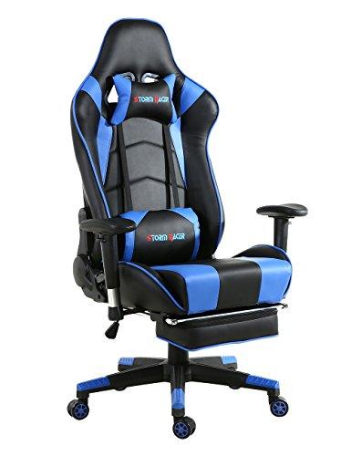 Storm Racer ergonómico Gaming Chair Silla de respaldo alto silla de...