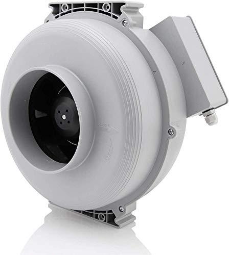 Hon&Guan Extractor de Aire Silencioso 150mm - 533m³/h Ventilador de Conducto Centrífugo para Oficina, Baño, Dormitorio, Hidropónico(Extractor Silencioso 150mm)