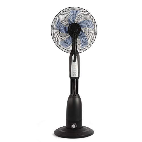 Standventilator mit Sprühnebel und Fernbedienung Luftbefeuchter Ventilator Timer (Fassungsvermögen 2,8 Liter, Raumbefeuchter, Oszillation, Leise, Höhe 125 cm)