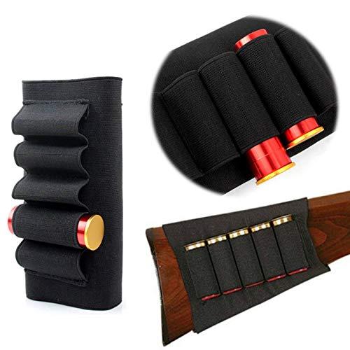 Gexgune Butt Stick Fucile a Pompa Fucile a Pompa Fucile da Caccia Cartuccia per proiettili Supporto per Munizioni 12G 12 Calibro / 20G Sport all'aperto