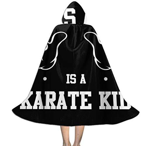 """NUJSHF Unisex Kapuzenumhang mit Kapuze """"This Guy is A Karate Kid"""", Halloween, Weihnachten, Party, Dekoration, Rolle, Cosplay, Kostüme"""