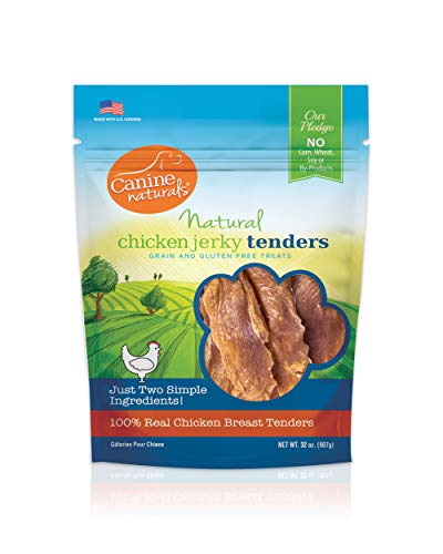 Canine Naturals Chicken Jerky Tenders – 32oz | Limited Ingredient Jerky Dog Treats | Made from USA Raised Chicken | Gluten-Free | 100% All-Natural Whole Muscle White Meat Chicken Breast