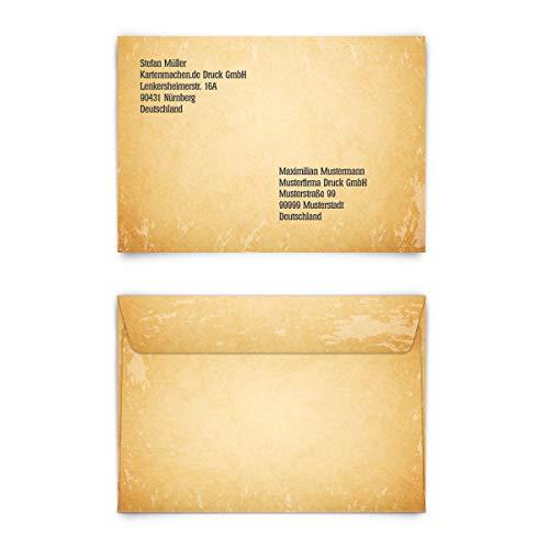 Personalisierte Briefumschläge (80 Stück) - Vintage