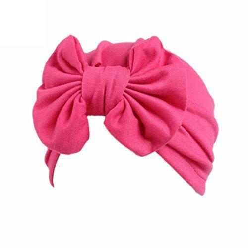 Huhu833 Baby Hüte, Kinder Baby Mädchen Hüte Boho Hüte Beanie Turban Kopf Wickeln Hüte (Hot pink)