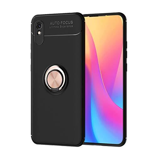 Carcasa de telefono Para Xiaomi Redmi 9A Case, para Xiaomi Redmi 9i Caso Soft TPU Funda a prueba de golpes 360 grados Rotating Metal Anillo Magnético Kickstand DISIPACIÓN DE CALOR DISTRIBA DE CAÍDA PR