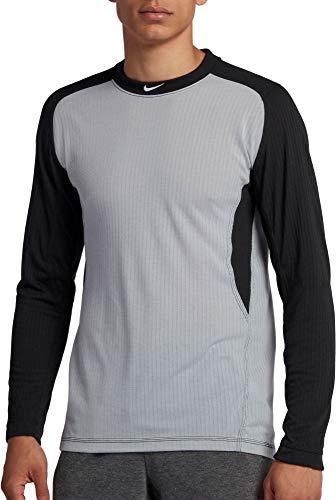 Nike Men's Long Sleeve Baseball Top Wolf Grey/Black/White Size Large