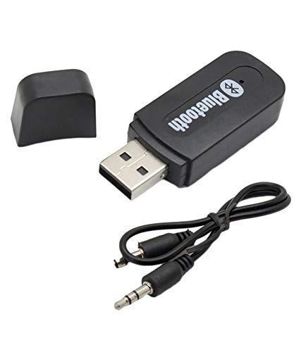 KMJSA A007 Bluetooth Audio Receiver for car, Wireless Bluetooth car Bluetooth Device for Music System/Bluetooth Connector for car Music System/Bluetooth Connector for Home Theatre