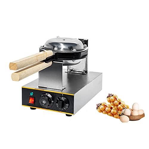 Hong Kong Bubble Waffle Make, Gofreras Electricas Belga Antiadherente Eléctrico, Waffle Hierro Rotación de 180° 50-250℃ para Organizaciones, Escuelas, Restaurantes, Departamentos